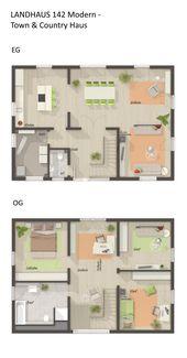 Grundriss Einfamilienhaus mit Galerie & Satteldach…