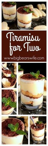 Making this for my husband tonight!! Tiramisu for Two is just the perfect desser…