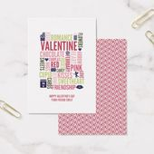 Valentine Words Classroom Valentine Card 100pk | Zazzle.com