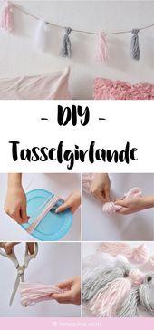 DIY Tassel-Girlande aus Wolle – Nela