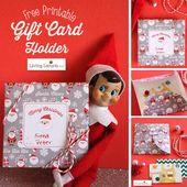 Free Printable Christmas Gift Card Holder