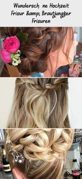 Gorgeous wedding hairstyle & bridesmaid hairstyles