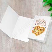 Seien Sie meine Valentinstagskarte – lustige Pizza-Grußkarte – Sie haben eine Pizza meine …