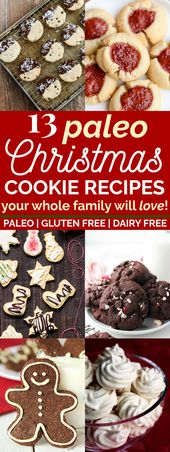 13 Clean Eating Christmas Cookie Recipes Your Whole Family Will Love | These pal…