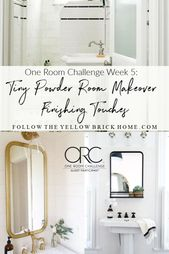 One Room Challenge Week Five: Tiny Powder Room Makeover Finishing Touches