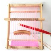 Traditionelles spinnen webstuhl holz kinder erwachsene spielzeug handwerk pädagogisches werkzeug holz weben rahmen pixel strickmaschine weihnachtsgeschenk