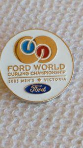Ford World Curling Championship Men S 2005 Victoria Hat Lapel Curling Pin In 2020 Lapel Victoria Men