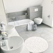 Instagram: wohn.emotion Landhaus Badezimmer bathroom modern grau weiß