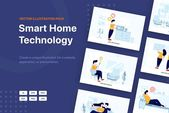 Smart Home Technology Vector Scenes by hoangpts –  – #hoangpts #Home #Scenes #Smart #Technology