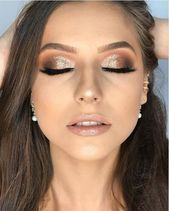 Besondere Anlässe: 46 Erstaunliche Party Make-up-Looks, um diese Weihnachtszeit zu versuchen. #m   – makeup