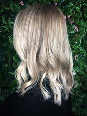 Ash blonde balayage , natural blondes babylights , and highlights on a blunt bob…