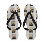 Pomeranian puppy sandals  #fashion #footwear #flipflops #sandals #giftideas #chr…,  #Chr #f…   – Flipflops