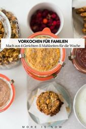 Preparación de comidas para familias: cocine los fines de semana durante toda una semana en VERANO   – Essen Trinken