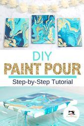 DIY Paint Pour Canvas mit JOANN – Crafts and Mor…