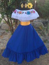 Vestido de fiesta Vestido de fiesta mexicana, 5 de mayo, Boda de 2 piezas. mexic…