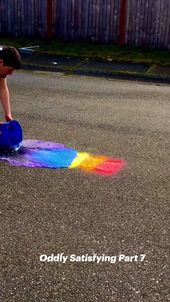 Rainbow Colors with running water! Oddly Satisfying Part 7 2