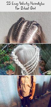 25 einfache verrückte Frisuren für Schulmädchen