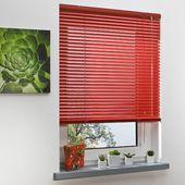 Jalousien Blickdicht ClearAmbient Größe: 130 L x 120 B cm, Farbe: Rot