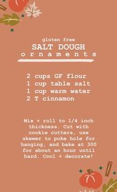Easy Salt Dough Ornaments (gluten free
