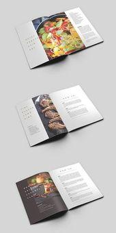 MoDish – Una plantilla de libro de cocina moderna #cookbook #recipebook #brochure #template #i …   – Random