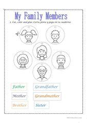 Family tree worksheet | ESL Basics | Family worksheet, Family tree ...
