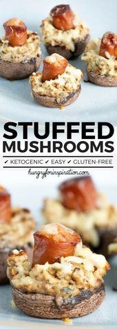 These Sausage Stuffed Mushrooms With Cream Cheese  are perfect Keto Snacks as we…