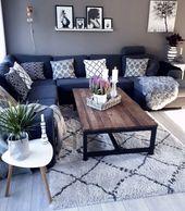 Gemütliches Wohnzimmer in angenehmen Farben. #fiftyshadesofgrey # livingroom #ei …   – plakat