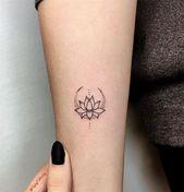 Nette und einfache Tätowierungsideen für Frauen; süße Tattoos; niedliche Tattoos mit …