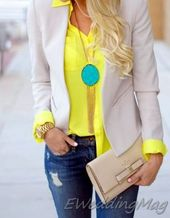 26 Cutest Colorful Women Work Outfits You Can Try This Winter #Women #Fashion