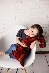 Maroon Luxe Bunny Baby Blanket, Luxury Gift for Baby Shower – Baby Blankets – …   – Baby Blanket