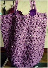 Die Häkel Eule – Gehäkelte Tasche / Einkaufsnetz Lacy Crochet Market Bag from …