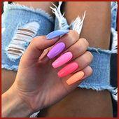43 hübsche Möglichkeiten, Regenbogennägel in diesem Sommer zu tragen, #dies #h …   – Summer Nails