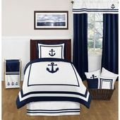 Sweet Jojo Designs Anchors Away Twin Comforter Set Multi