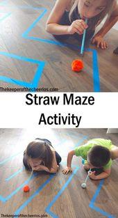 Straw Maze Activity – #Activity #Maze #Straw – #activities #Activity – Charlott