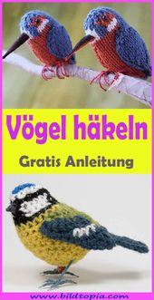 Vögel häkeln – kostenlose DIY Anleitung – Häkeln – Anleitungen