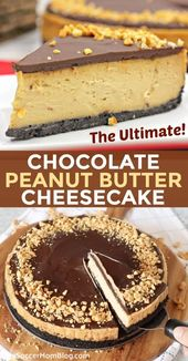 The Ultimate Chocolate Peanut Butter Cheesecake