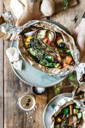 Thym grillé aux légumes et aux myrtilles   – Vegetarisch & Vegan Grillen | BBQ Party