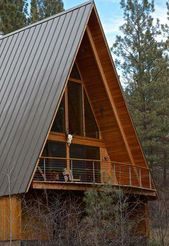 An A-frame home is simple, some what conservatory …