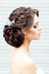 African American. Black Bride. Wedding Hair. Natural Hairstyles. Elegant Curled Updo