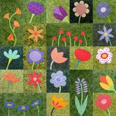 Wild Flowers – applique quilt pattern workshop – Embroidery: Flowers