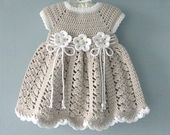 Baby Dress Crochet Baby Dress Flower Baby Girl Clothes Baby Shower Baby Girl Outfit Knitted Baby Dress Baby Gift – crochet baby clothes