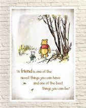 Winnie the Pooh Print, Classic Pooh, Pooh Wall Art, Pooh Art Prints, Piglet, Piglet Quotes, Pooh Nursery Art, Birthday Gift, Christmas Gift