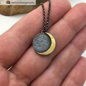 Mond Mond Schmuck Halskette Indie Nacht – #bijoux #Indie #Jewelry #lunar #Moon