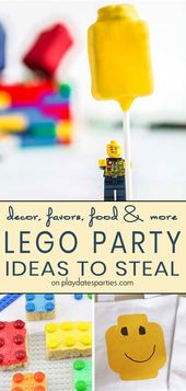 43 Steal-Worthy Ideas for Lego Party Decorations, Food, Favors and More!
