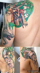 Auf halbem Wege auf meinem Mononoke-Ärmel! Gemacht mit den Fingern @ Westside Tattoo B …