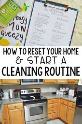 d9e8671d2592e77fdfcb11f939e04820 How to reset your home & start a cleaning routine. Having a tidy home saves my s...