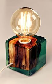 Resin and Wood Lamps by Resin Timber on Etsy See o…