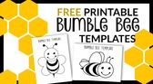 Free Printable Bee Templates – Simple Mom Project