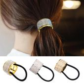 RUB 75.39 50% DISCOUNT | M MISM hair band pearl Women accessories hair bands punk tail hair holder plastic crystal hair elastic hair band | gum for hair | ponytail holder | women hair accessories – AliExpress