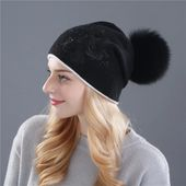 Xthree Women's Winter Hat Rabbit Fur Wool Knitted Hat The Female Of The Mink Hats For Women Beanies – Fashion 2019/2020